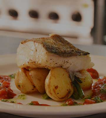 Baked cod at Magherabuoy House
