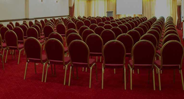 Lanyon Room, Portrush, set up for a Conference