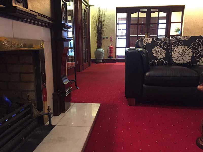 Fireside relaxation at Magherabuoy House Hotel