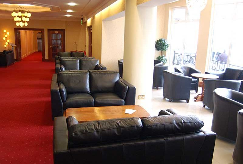 Hotel Reception seating area