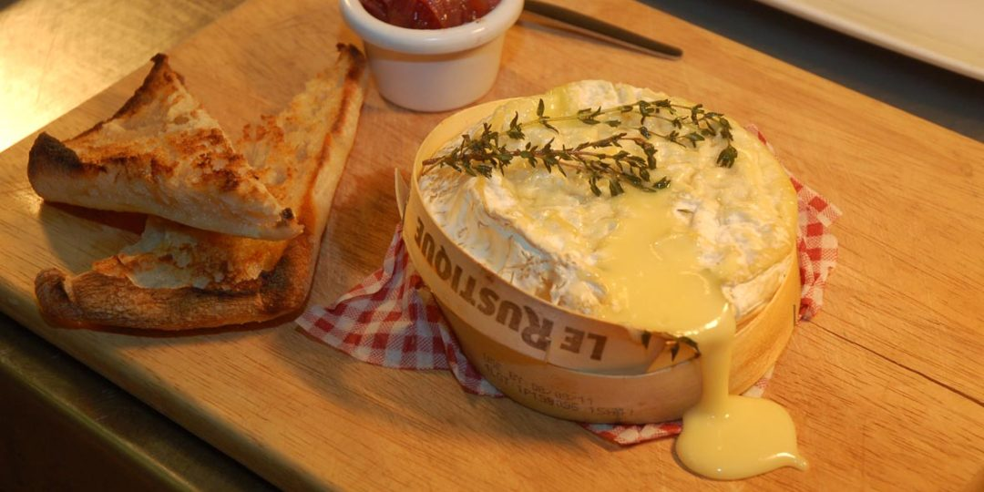 Bistro food melted camembert