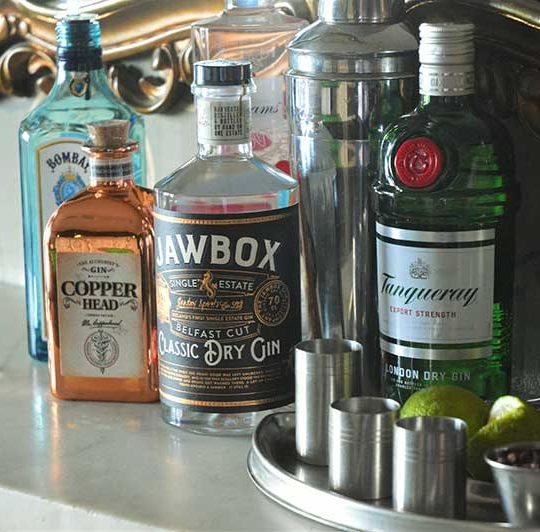 Try a specialty gin at Magherabuoy House