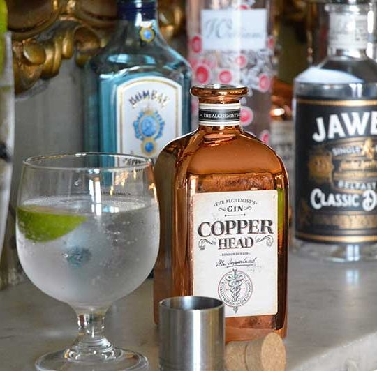 Enjoy the smoothest of gins from Magherabuoy's specialty list, Copperhead