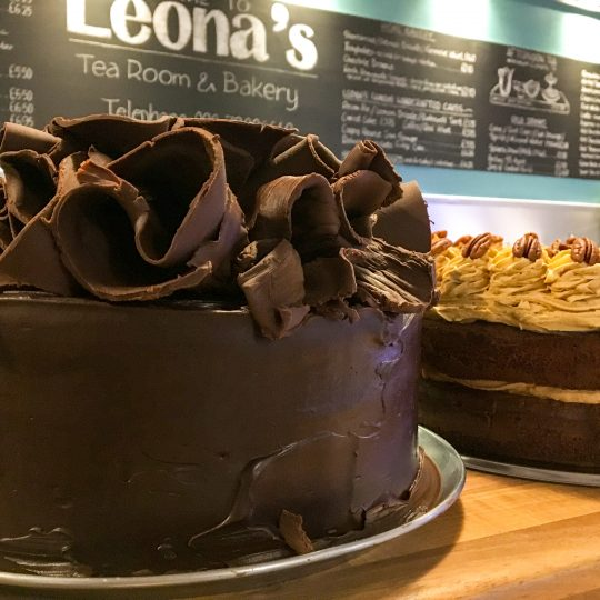 Leona's Tea Room hand-crafted deluxe chocolate cake